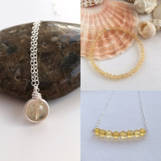 Citrine necklaces, pendants and bracelets available in my Etsy shop.