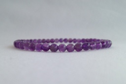 Amethyst small bead bracelet