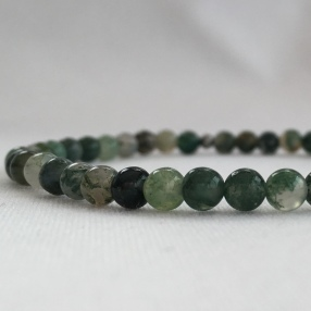 Moss Agate small bead bracelet