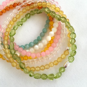 Spring stacking bracelets
