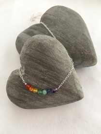 Semiprecious rainbow necklace.