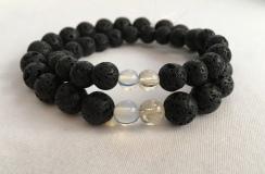 Custom order for Lava, Couple's birthstone bracelets
