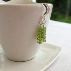 Beautiful pale green Peridot earrings with Sterling silver ear hooks.