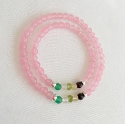 Mother and daughter, family birthstone bracelets. Birthstone jewellery makes a great gift. I make birthstone jewellery for each month of the year with genuine gemstone beads.