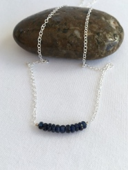 Sapphires for September birthdays. Birthstone jewellery makes a great gift. I make birthstone jewellery for every month of the year with genuine gemstone beads.