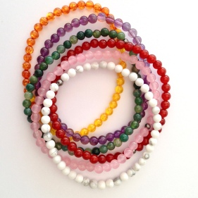 Small bead stacking bracelets