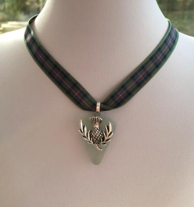 Scottish sea glass pendant.