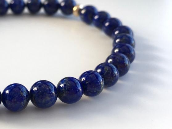 Lapis Lazuli bracelet with 9ct Gold