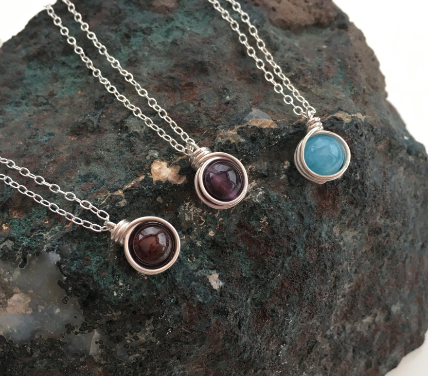 Chalso winter birthstone pendants