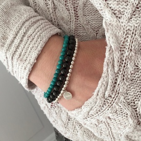 Turquoise and Jet Chalso stack