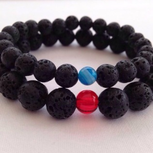 Custom order His and Hers Lava bracelets.