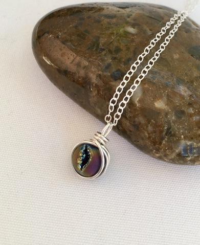 Druzy Rainbow Agate pendant.