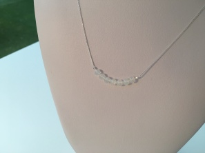 Opal necklace with genuine Ethiopian Opal and Sterling silver.