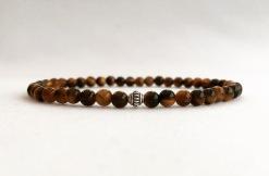 Tigers eye bracelet with Bali silver focal bead