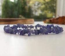 Tanzanite chip bracelet