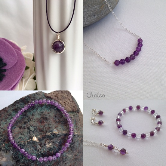 Amethyst jewellery for February birthdays
