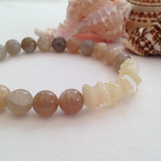 Moonstone and Mother of pearl bracelet