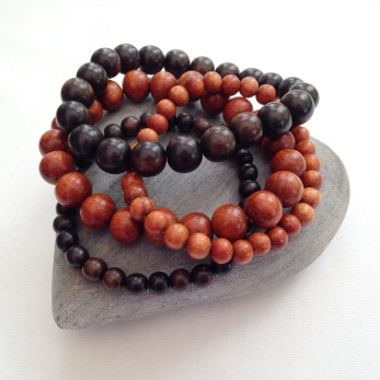 Tiger ebony and Bayong Wooden bracelets