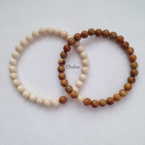 Fossil and Sandalwood Jasper couples bracelets.