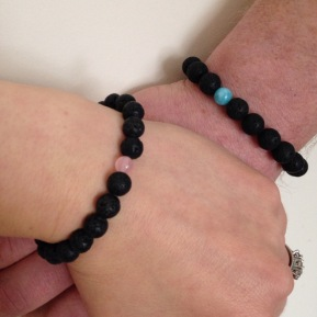 His and Hers Lava bracelets