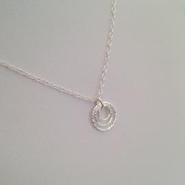 Triple Circle, Sterling silver pendant.