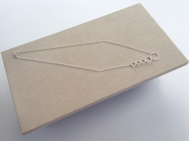 Five Circles necklace. This beautiful, sparkly, asymmetric Sterling silver necklace is perfect for layering and makes a great gift for her.
