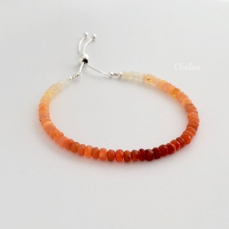 Ombré Fire Opal bracelet with Sterling silver