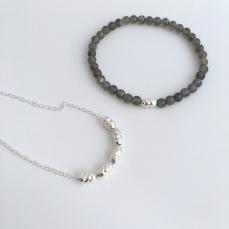 Silver and Labradorite