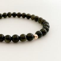 Gold Obsidian bracelet