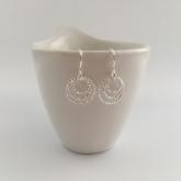 Triple Circle, Sterling silver earrings.