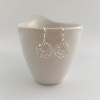 Triple Circle, Sterling silver earrings.
