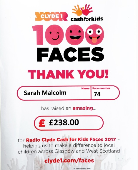 In 2017 I raised £238 for Cash for Kids.