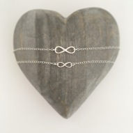 Sterling silver infinity necklace set, would make a great Mothers Day gift!