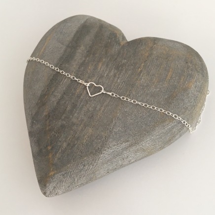 Sterling silver heart necklace, perfect flower girl gift!