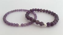 Beautiful purple Amethyst bracelets with Sterling silver