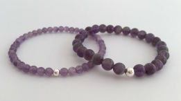 Beautiful purple Amethyst bracelets with Sterling silver