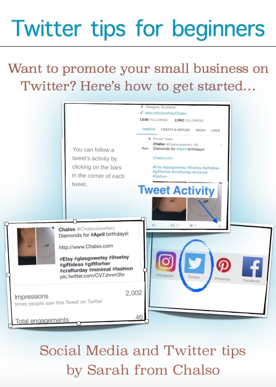 Want to promote your small business on Twitter, but don't know where to start? This blog post will help you get started! Social Media and Twitter Tips by Sarah from Chalso.