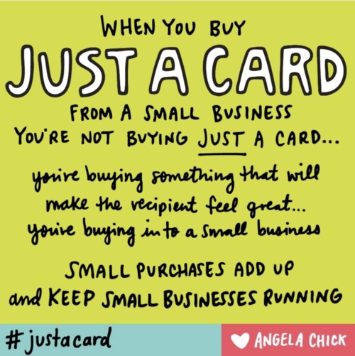 "Small purchases really do make a difference, even if it's ""just a card"""
