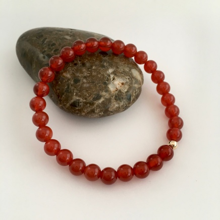 Carnelian and 9ct Gold bracelet