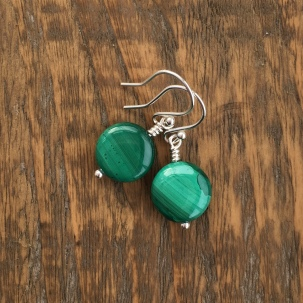Malachite earrings with Sterling silver
