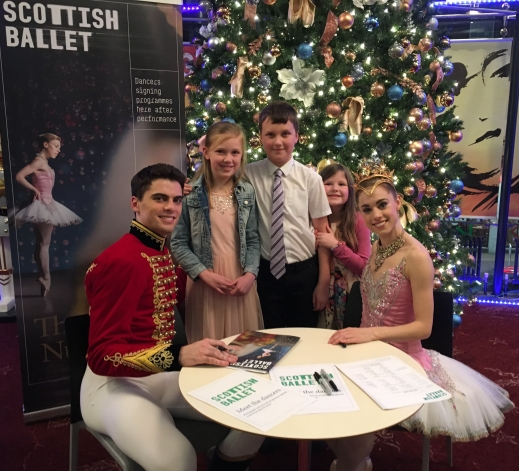The kids really enjoyed their first trip to the ballet and were delighted to meet the stars of the show afterwards!