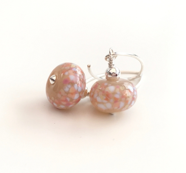 Lampwork earrings with Sterling silver