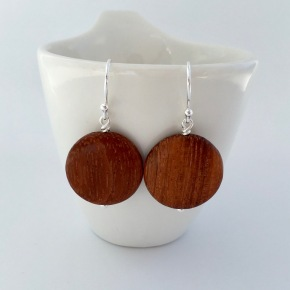 Bayong wood and Sterling silver earrings.