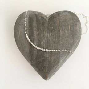 Raw diamond necklace made with 25 raw Diamonds on Sterling silver chain