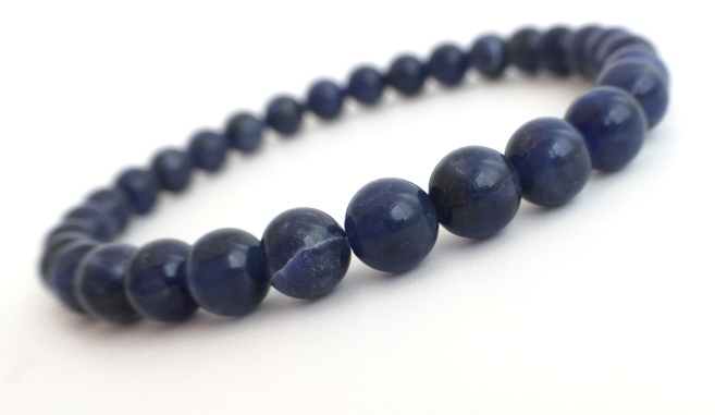 Beautiful blue Sodalite stretch bracelets. Look equally gorgeous on him or her!
