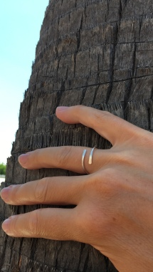 This Sterling silver adjustable skinny ring is super comfy to wear and has an elegant, minimalist look.